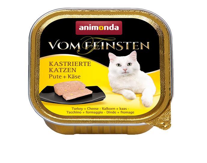 ANIMONDA cat paštika  KASTROVANÁ kočka 100g - Krůta/sýr