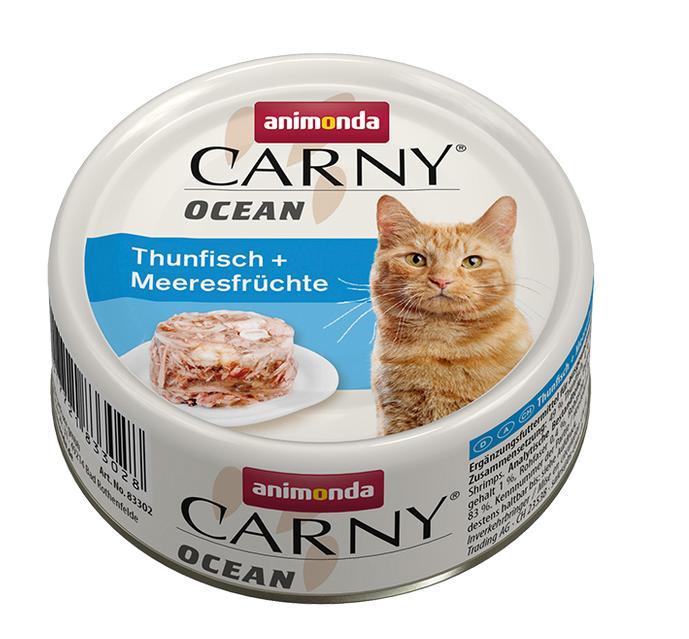 ANIMONDA cat konzerva CARNY OCEAN tuňák/mořské plody - 80g