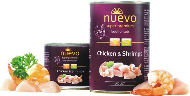 NUEVO cat konz.  ADULT kuře/krevety - 200g