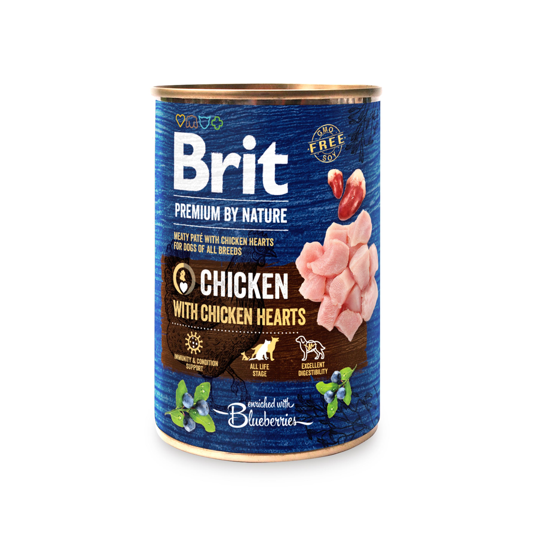 BRIT dog Premium by Nature CHICKEN with HEARTS - 800g