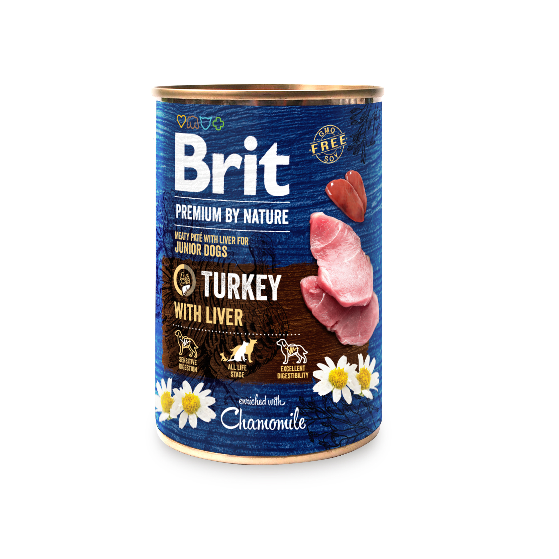 BRIT dog Premium by Nature TURKEY with LIVER - 800g