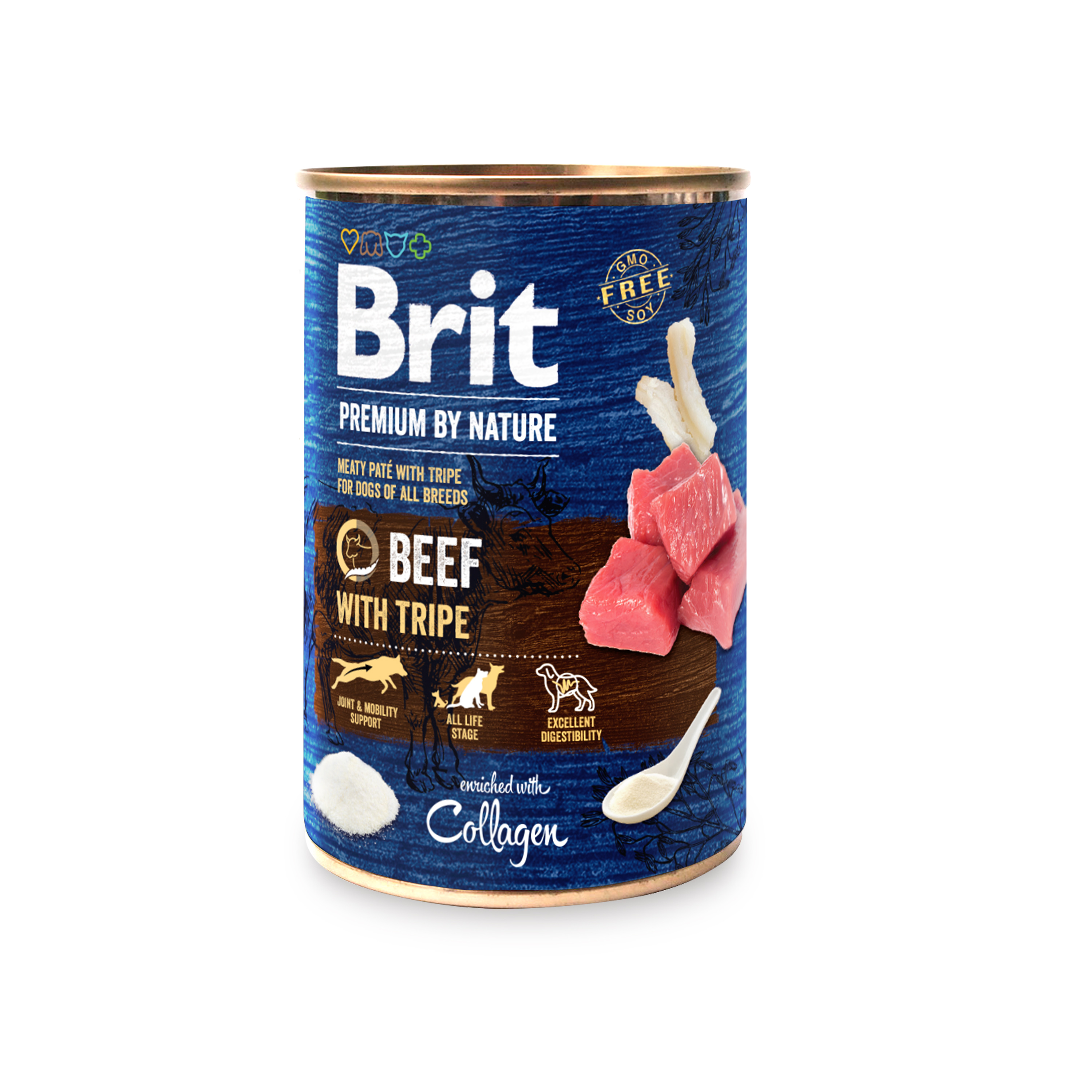 BRIT dog Premium by Nature BEEF with TRIPES - 800g