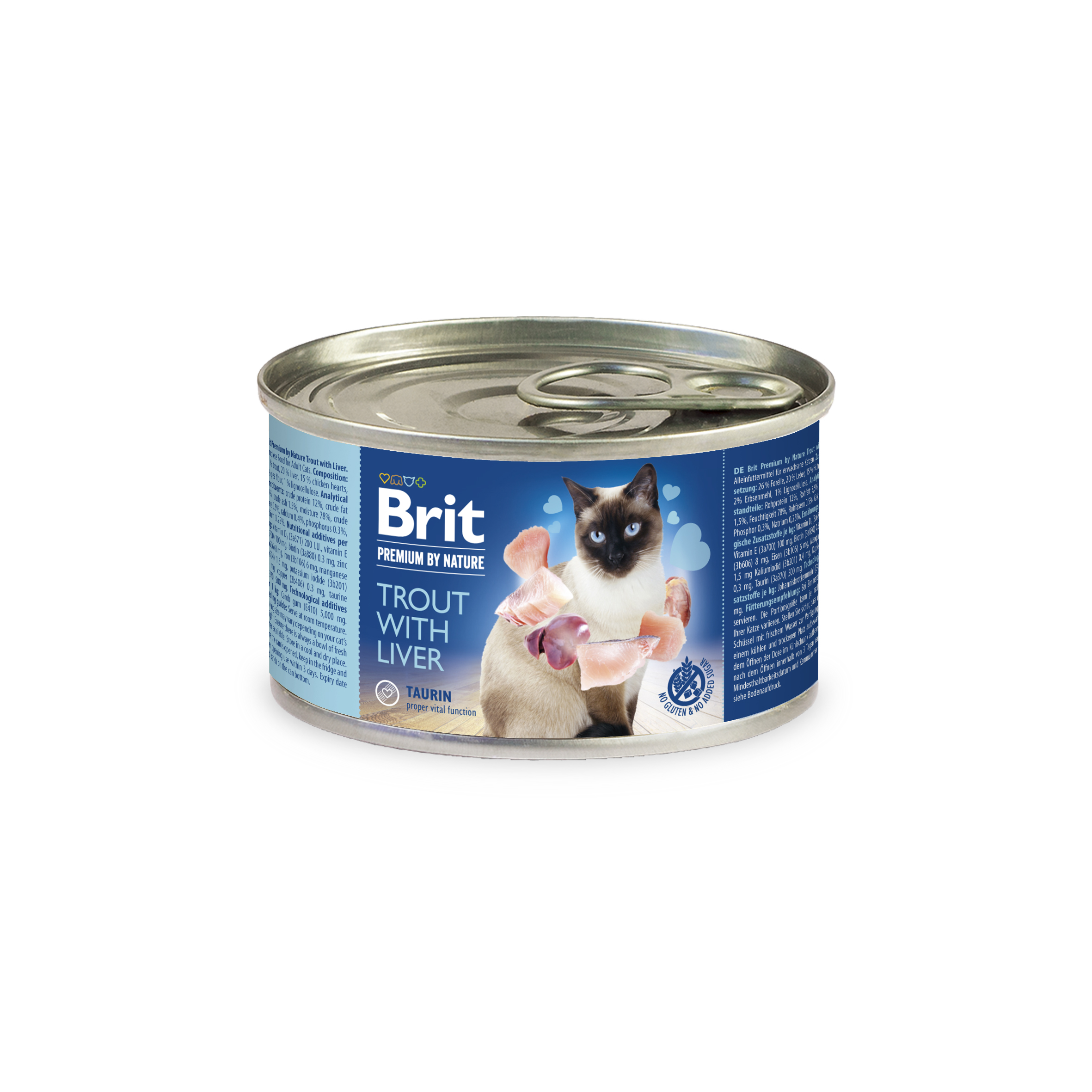 BRIT cat  premium konz. TROUTliver - 200g