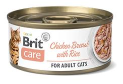 BRIT CARE cat konz. ADULT  CHICKENbreastrice - 70g