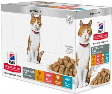 Hills cat  kapsa  STERILISED 12x85g - 12x85g