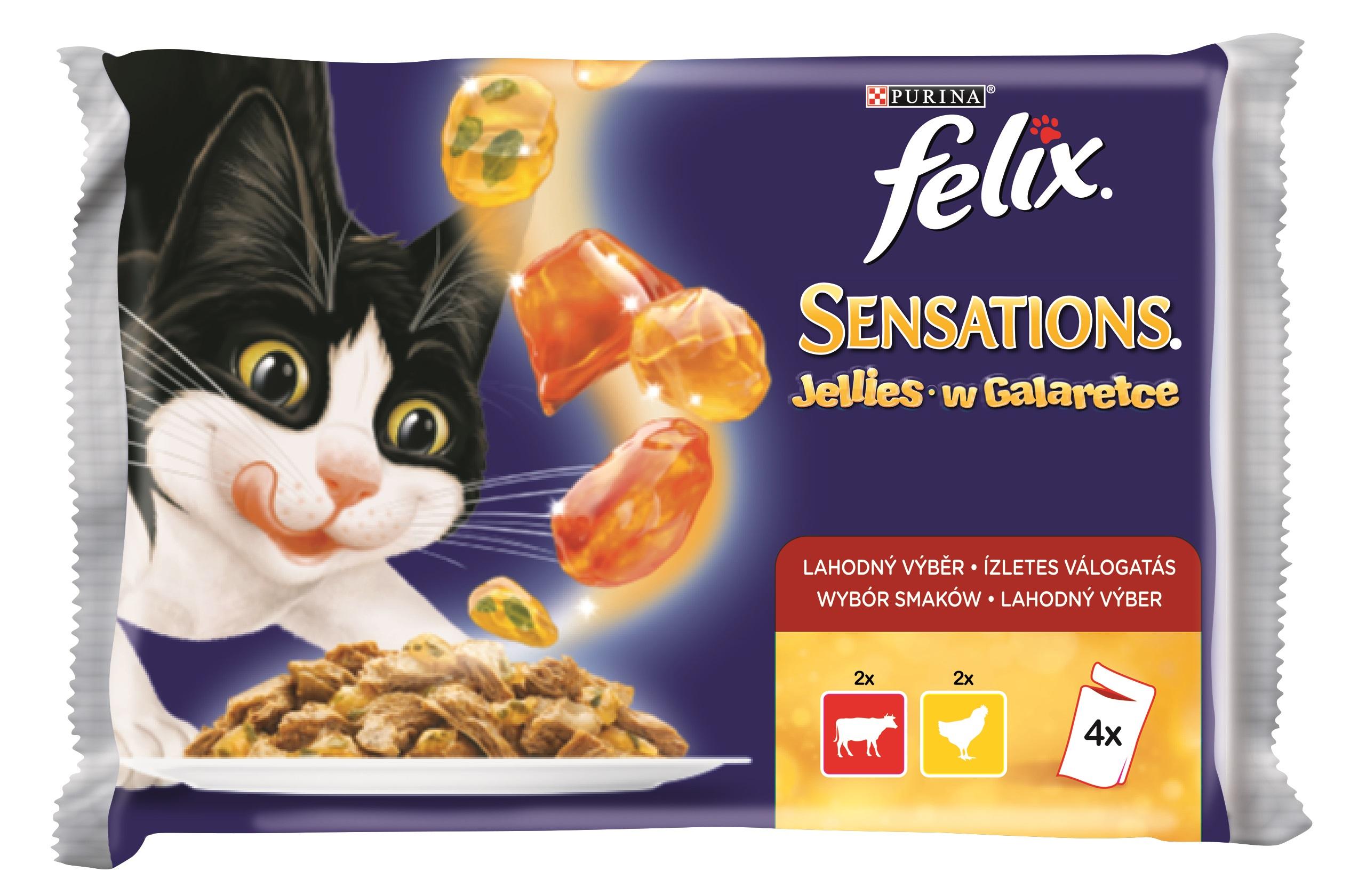 FELIX kapsa SENSATIONS Jellies 4x100g - LOSOS/treska