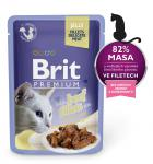 BRIT cat  kapsa  FILLETS želé 85g