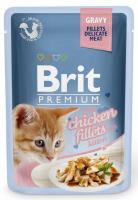 BRIT cat  kapsa  FILLETS   KITTEN chicken/šťáva