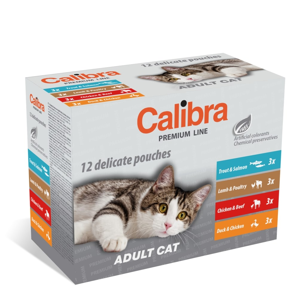CALIBRA cat kapsa MULTIpack ADULT - 12x100g