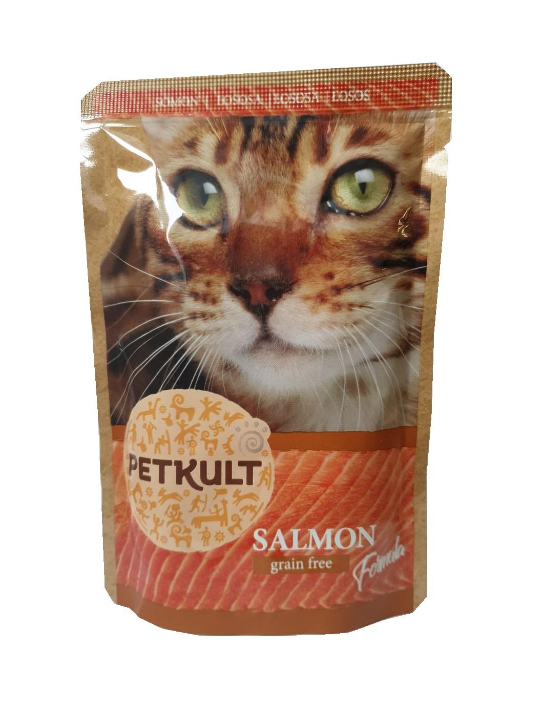 PETKULT  cat kapsa  LOSOS - 100g (8 + 2 gratis)