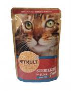 PETKULT cat kapsa STERILISED tuňák
