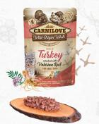 CARNILOVE cat   kapsa  ADULT  TURKEY/valerian