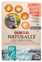 IAMS cat kapsa NATURALLY SENIOR NORTH atlantic salmon