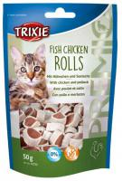 Cat pochoutka FISH CHICKEN ROLLS (trixie)