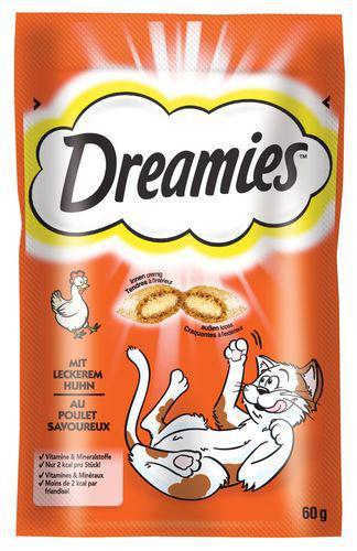 WHISKAS poch. DREAMIES 60g - Sýr