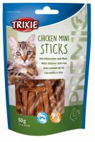 Cat pochoutka CHICKEN MINI STICKS (trixie)
