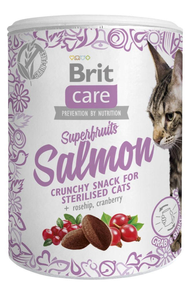BRIT CARE cat SNACK  SUPERFRUITS SALMON - 100g