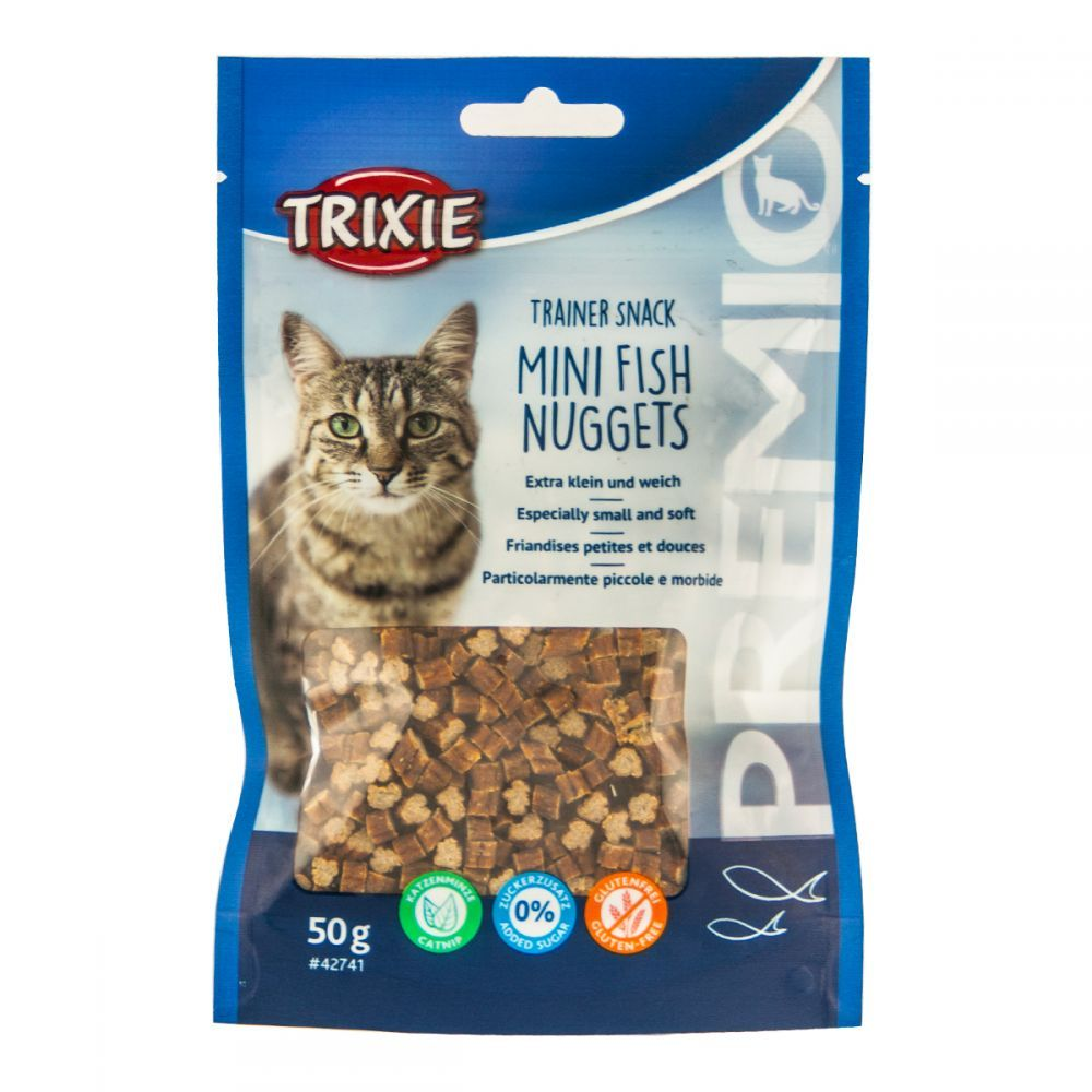 Cat pochoutka MINI fish NUGGETS (trixie) - 50g