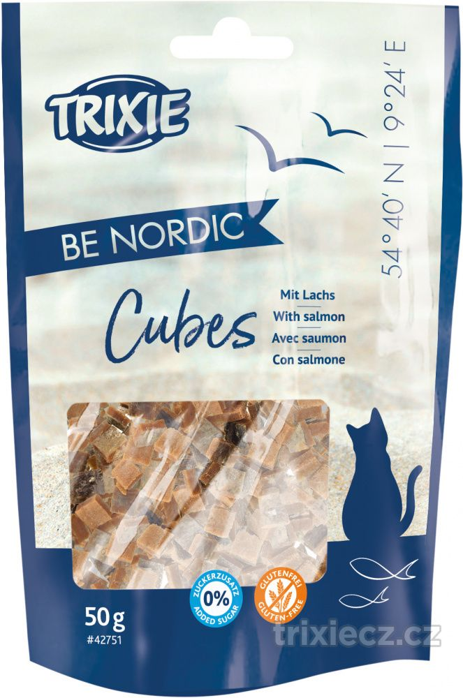 Cat pochoutka BE NORDIC CUBES salmon (trixie) - 50g