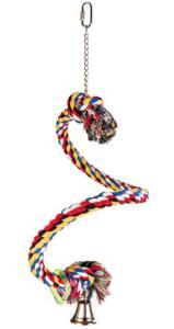 HRAČKA pták Houpačka bavlněné lano spirála