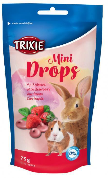 Drops hlodavec MINI s jahodou (trixie) - 75g