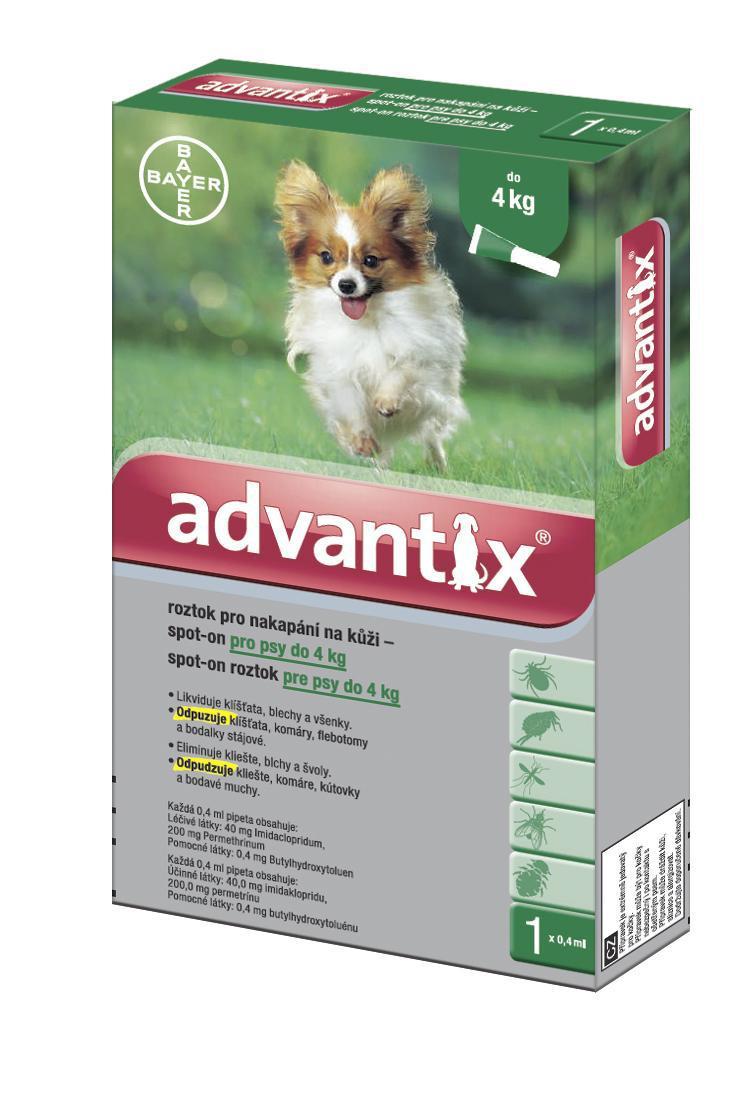 Advantix pro psy spot-on - do 4kg
