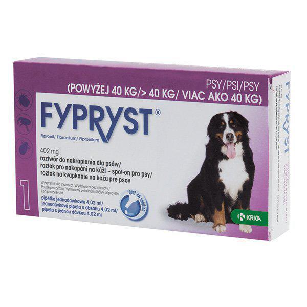 Antiparazitní spot-on FYPRYST pro psy - S (2-10kg)