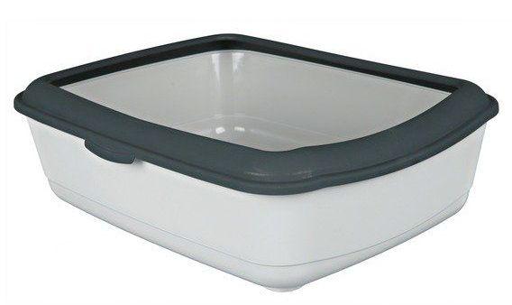 WC CLASSIC (s okrajem) 37x15x47 cm - Petrolej / bílá