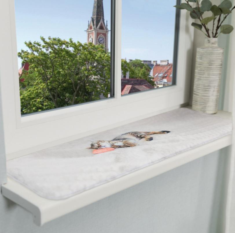 Podložka (obdélník) NANI na okenní parapety šedá - 90 x 28 cm