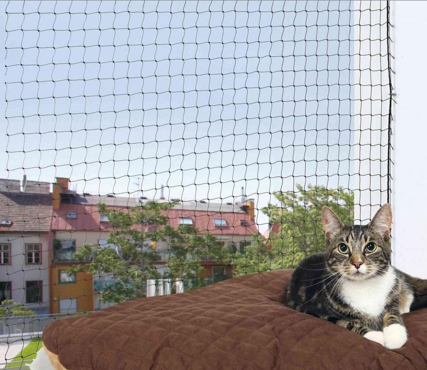 SÍŤ ochranná pro kočky - 8x3m / černá