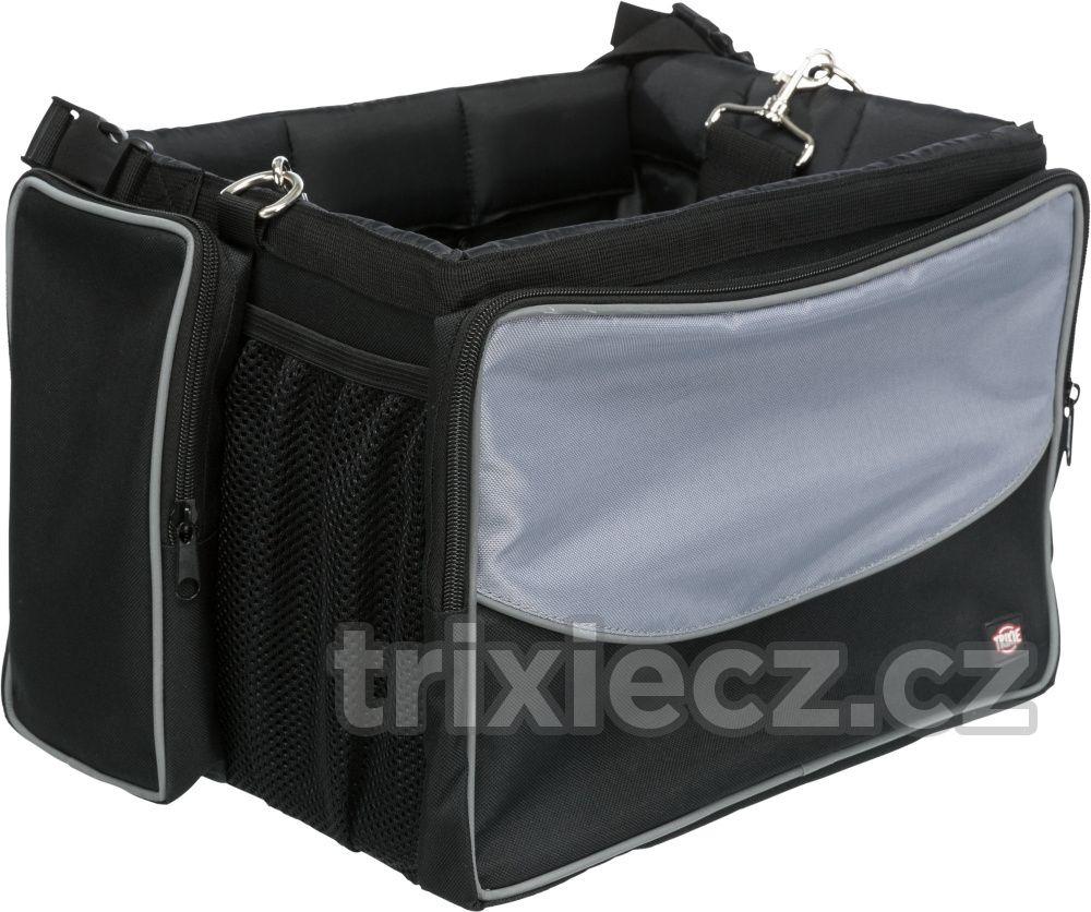 Přepravní FRONT-BOX na KOLO šedá - 41x26x26cm/7kg