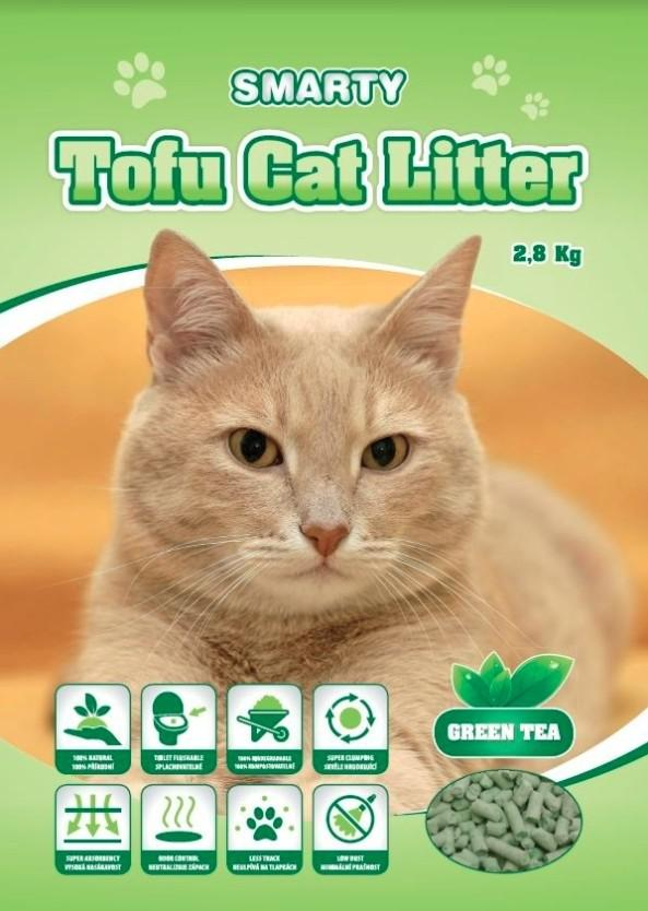 Podestýlka   TOFU  zelený čaj - 6l / 2,8kg