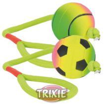 HRAČKA neonový míč na šňůře mechová guma