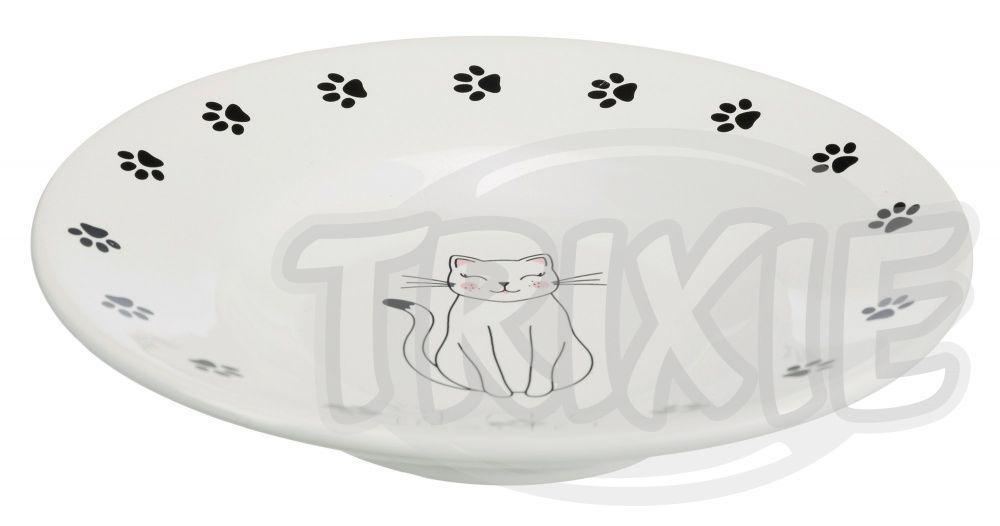 Keramická miska-talířek pro krátkonosé kočky