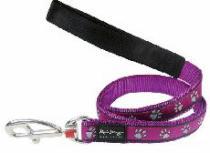 Vodítko RD PAWPRINTS purple