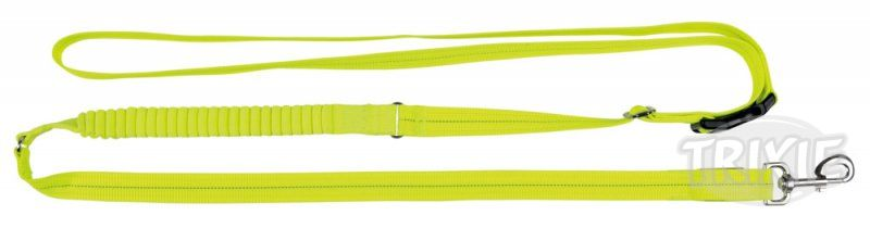Vodítko JOGGING svítící USB neon žluté - 2,5cm/1,85-2,55m