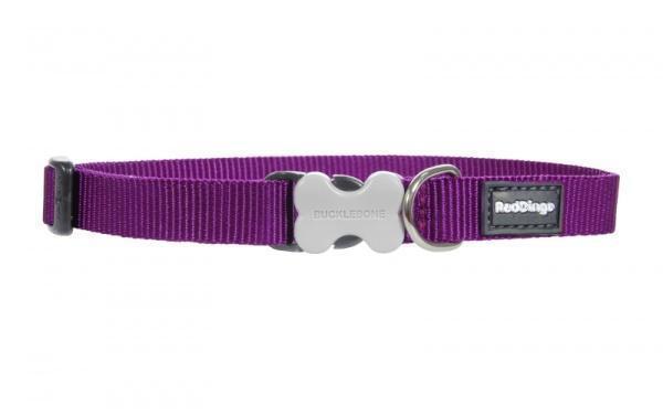 Obojek RD jednobarevný fialový - 1,2/20-32cm