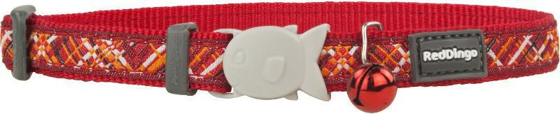 Obojek RD  cat FLANNO red - 1,2/20-32cm
