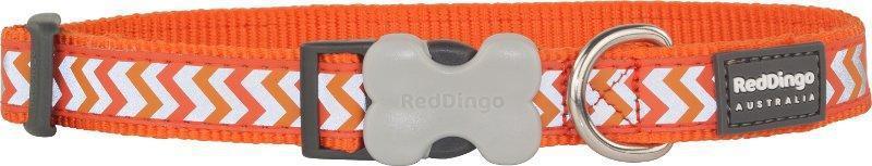 Obojek RD reflective ZIGGY/orange - 2,5/41-63cm