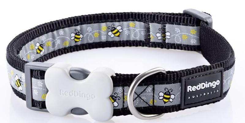Obojek RD BUMBLE BEE black - 1,5/24-37cm