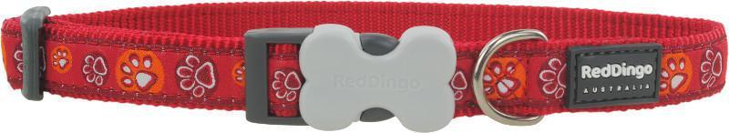 Obojek RD PAW impressions RED - 1,2/20-32cm