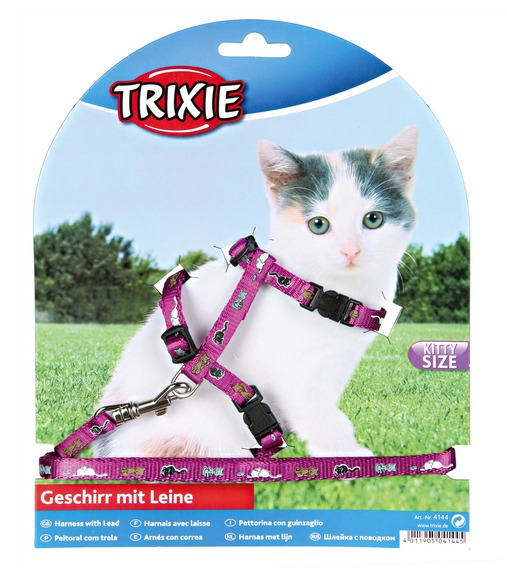 Postroj (trixie) CAT pro koťata s vod. 8mm/21-34cm/1,2m