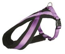 Postroj (trixie) PREMIUM podšitý fialový