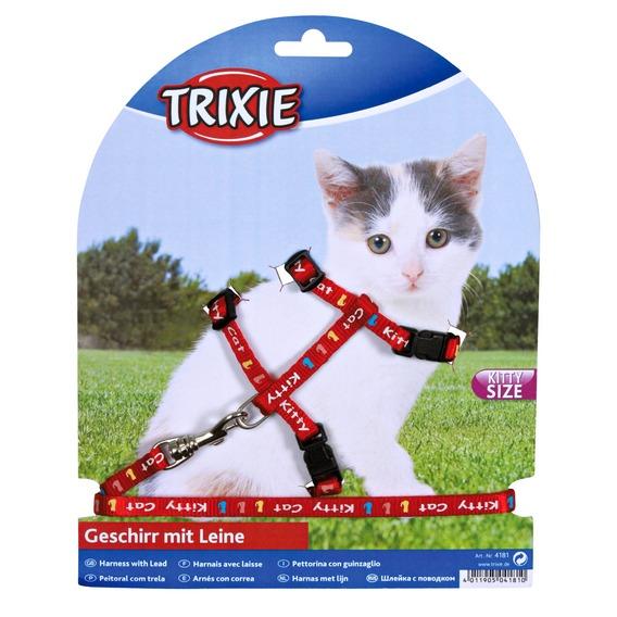 Postroj (trixie) pro koťata KITTY CAT - 21-33/8mm/1,20cm
