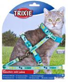 Postroj (trixie) s vodítkem na kočku pošitý stužkou