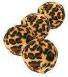 HRAČKA míčky s leopardím motivem 4ks/4cm