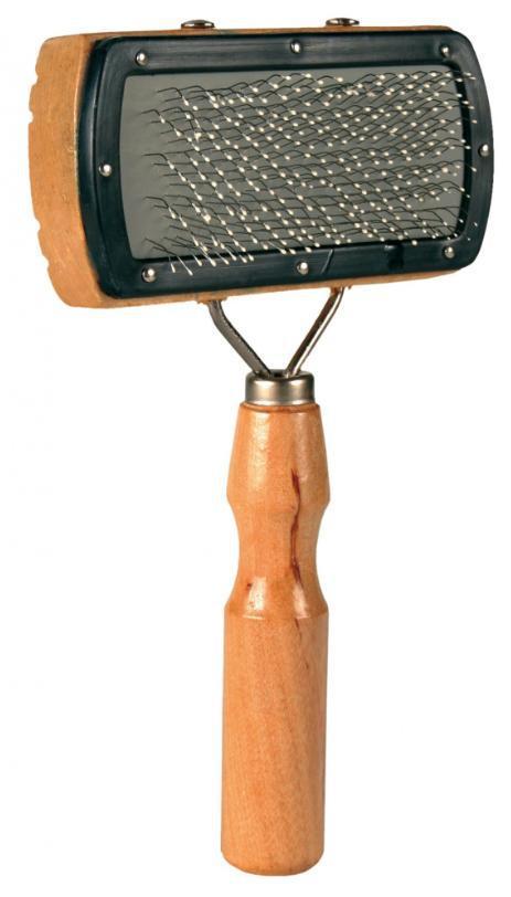 HŘEBEN kartáč jednostranný,dřevěný,hranatý s kuličkami - 10x18cm