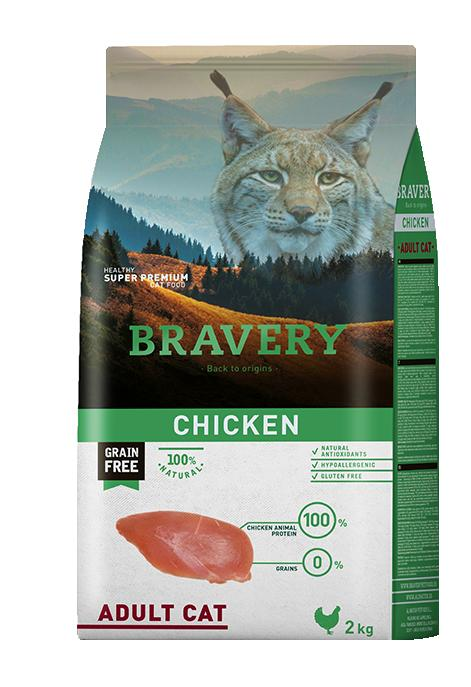 VZOREK - BRAVERY cat ADULT CHICKEN - 70g